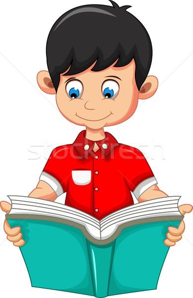 Nino Cartoon lectura libro diseno escuela Foto stock © jawa123