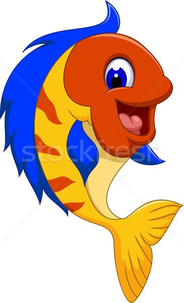 funny cute fish cartoon close up Stock photo © jawa123