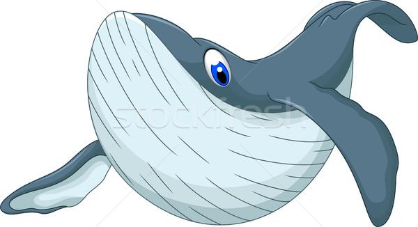 Sevimli balina karikatür dizayn su arka plan Stok fotoğraf © jawa123
