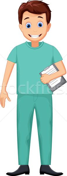 Cute медсестры человека Cartoon стороны тело Сток-фото © jawa123