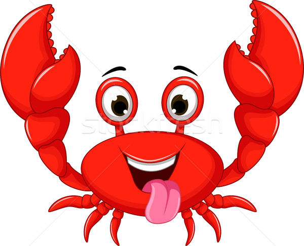 funny cartoon crab Stock photo © jawa123