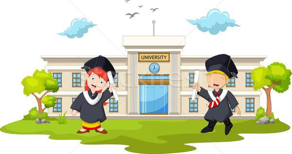 graduation celebration with background building campus Stock photo © jawa123
