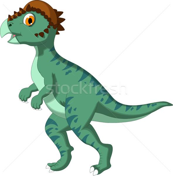 динозавр Cartoon дизайна тело время смешные Сток-фото © jawa123