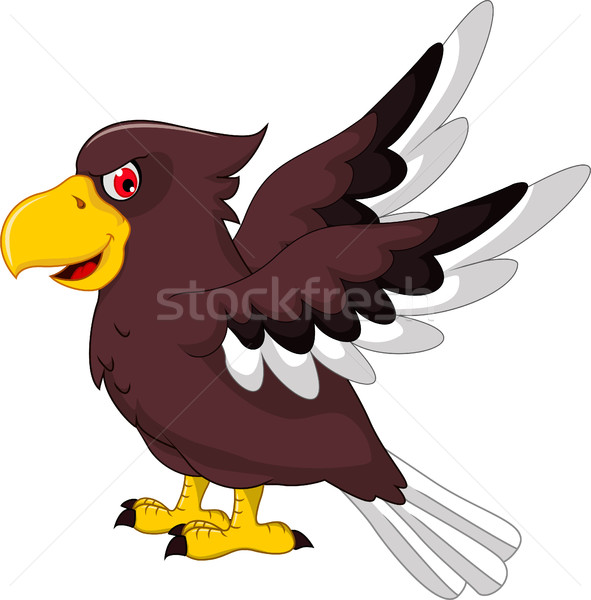 Cute орел Cartoon Flying природы жизни Сток-фото © jawa123