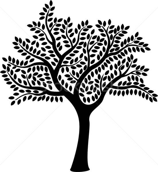 tree silhouette for you design Stock photo © jawa123