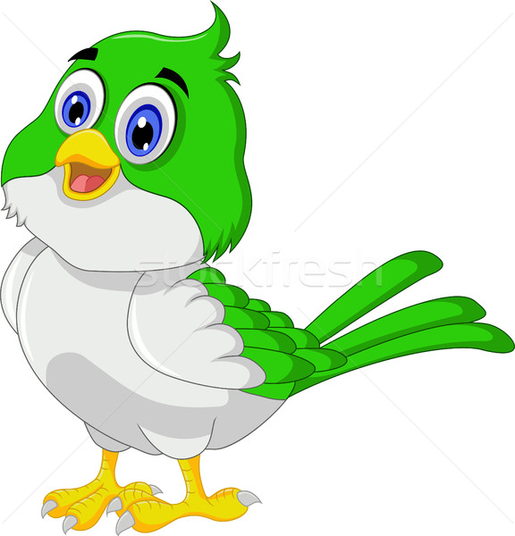 Cute bird cartoon Stock photo © jawa123