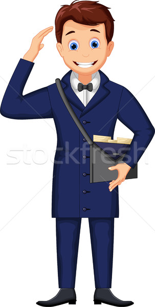 funny Cartoon postman delivering letters Stock photo © jawa123