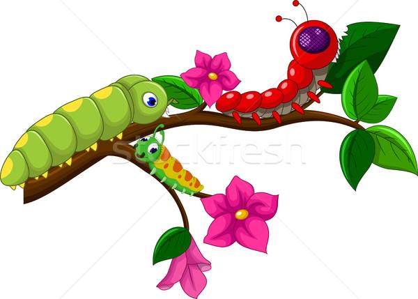 caterpillar cartoon collection Stock photo © jawa123