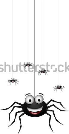 Сток-фото: смешные · Spider · Cartoon · дизайна · животные · Crazy