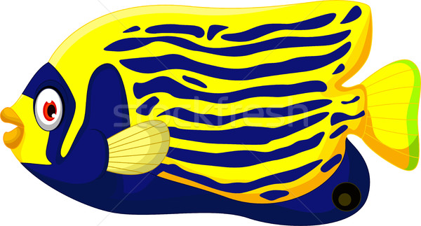 Angelfish cartoon Stock photo © jawa123