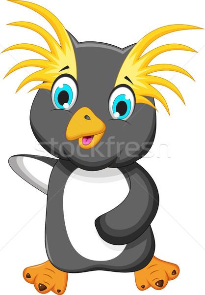 funny king penguin cartoon Stock photo © jawa123