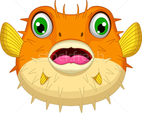 cute Blow fish cartoon for you design Stock photo © jawa123