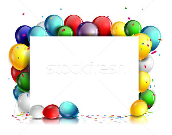 Stockfoto: Kleurrijk · verjaardag · kind · ontwerp · teken