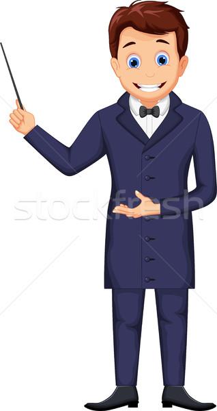 Vicces bűvész rajz terv felirat férfiak Stock fotó © jawa123