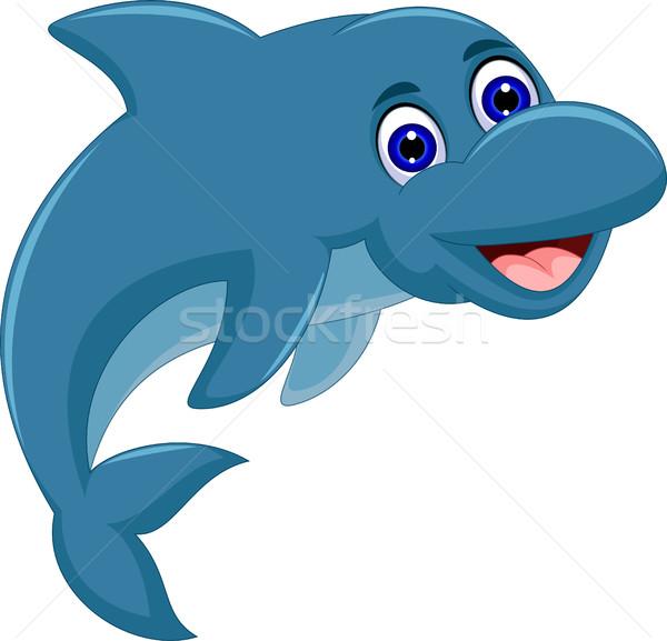 cute Cartoon dolphin jumping Stock photo © jawa123