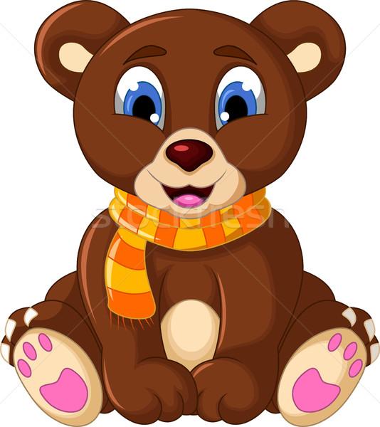 cute teddy bear cartoon Stock photo © jawa123