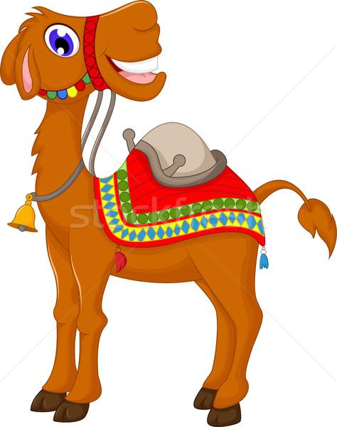 Cute верблюда Cartoon лице пустыне Африка Сток-фото © jawa123
