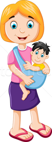 happy mother holding her baby child Stock photo © jawa123