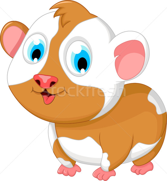 funny fat hamster cartoon posing Stock photo © jawa123