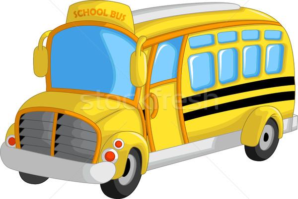 cute school bus cartoon Stock photo © jawa123