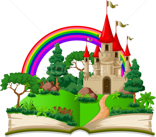 fairy castle appearing from the old book Stock photo © jawa123