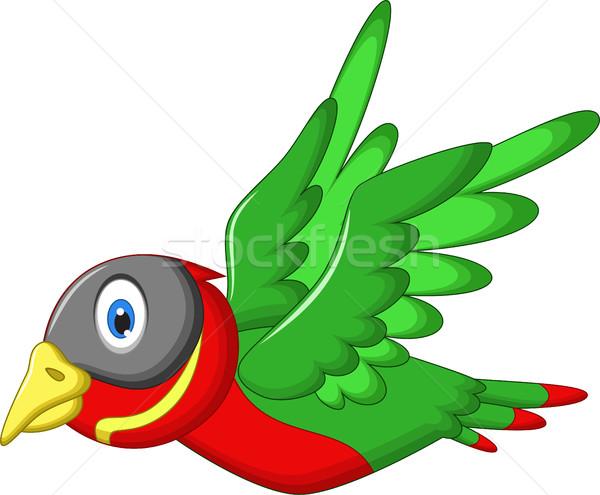 cute sparrow cartoon flying Stock photo © jawa123