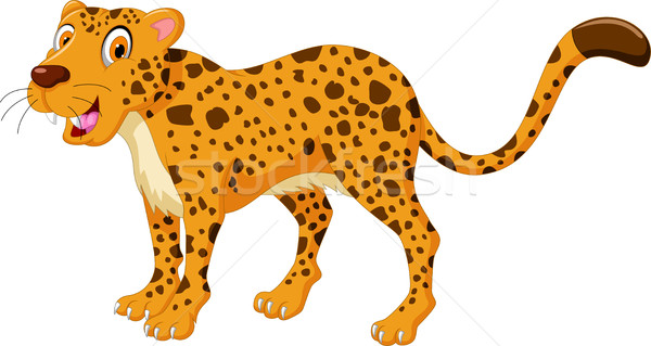 Cute cheetah cartoon poseren familie baby Stockfoto © jawa123