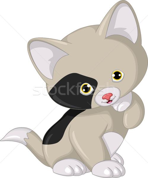 cat cartoon posing Stock photo © jawa123