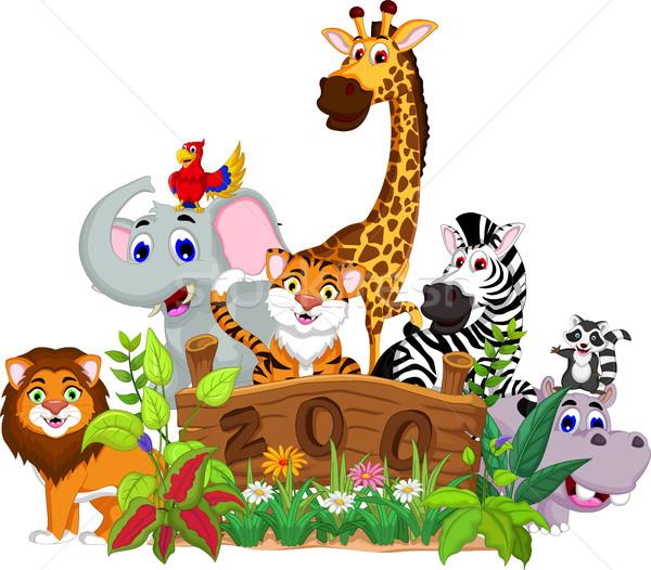 zoo and the animal cartoon Stock photo © jawa123