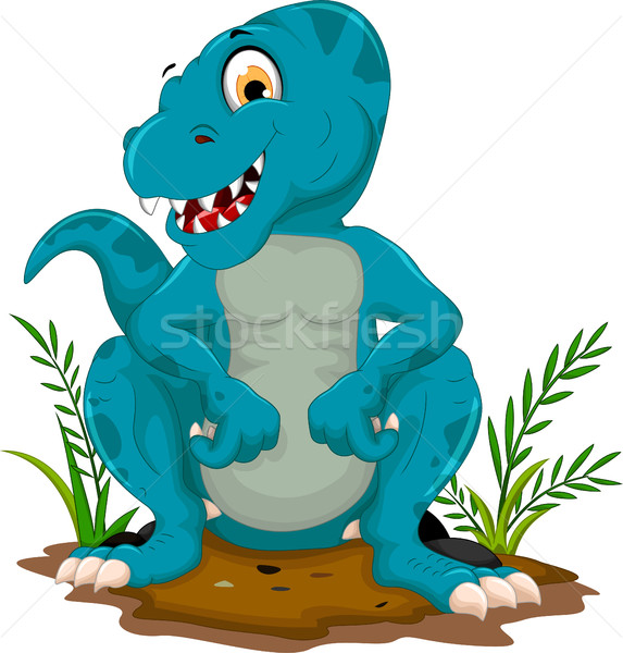 cute Tyrannosaurus cartoon sitting Stock photo © jawa123