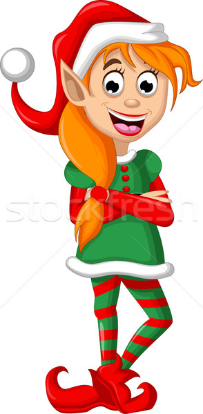 Christmas elf posing Stock photo © jawa123