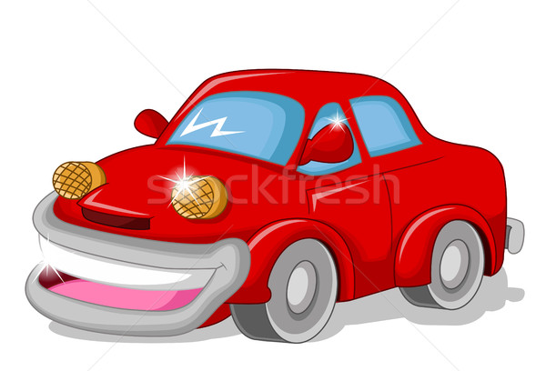 funny red car for you design Stock photo © jawa123