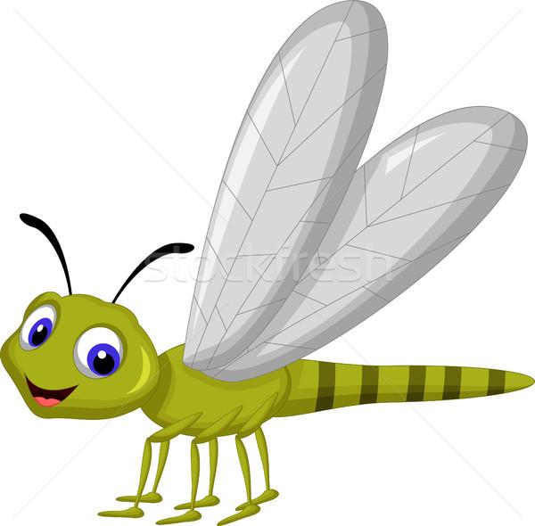 Sevimli yusufçuk karikatür vücut dizayn yaz Stok fotoğraf © jawa123