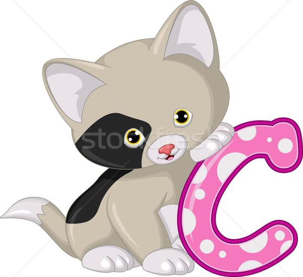 かわいい 猫 漫画 ポーズ 子供 自然 ストックフォト © jawa123