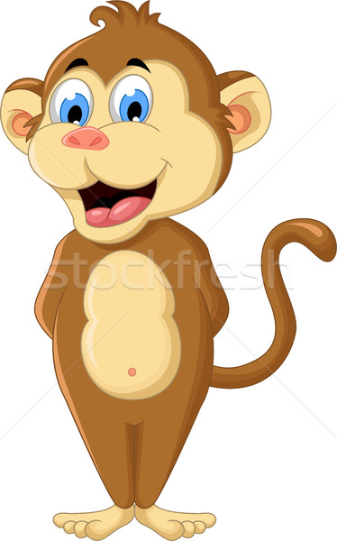 cute monkey cartoon Stock photo © jawa123