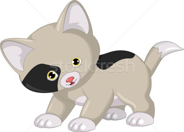 cute cat cartoon Stock photo © jawa123