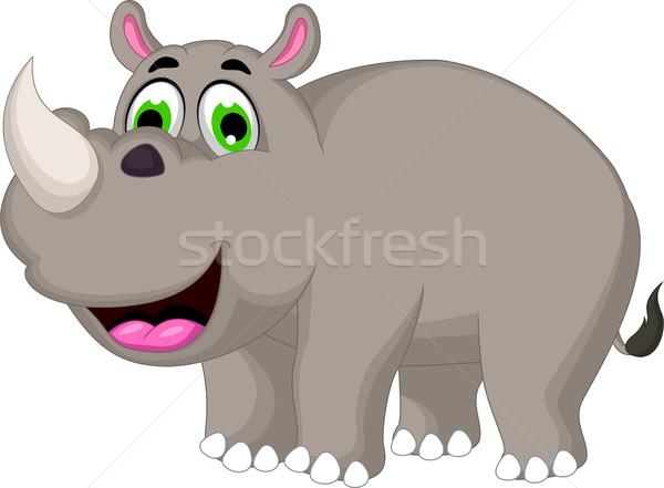Rajz orrszarvú terv boldog festmény szín Stock fotó © jawa123