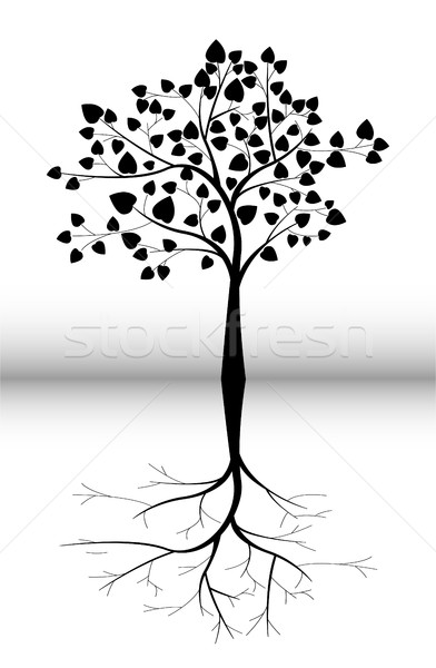 Arbre silhouette design printemps résumé nature Photo stock © jawa123