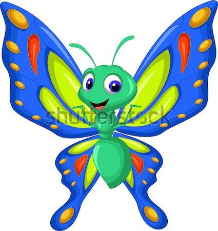 Zangado mosquito desenho animado sangue saúde engraçado Foto stock © jawa123