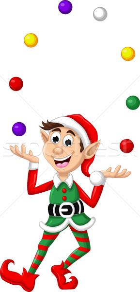 Noël elf jouer heureux art Photo stock © jawa123