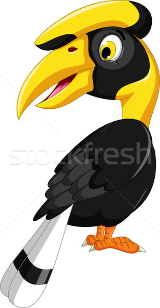 cute horn bill cartoon posing Stock photo © jawa123