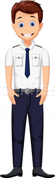 cute cartoon pilot posing Stock photo © jawa123