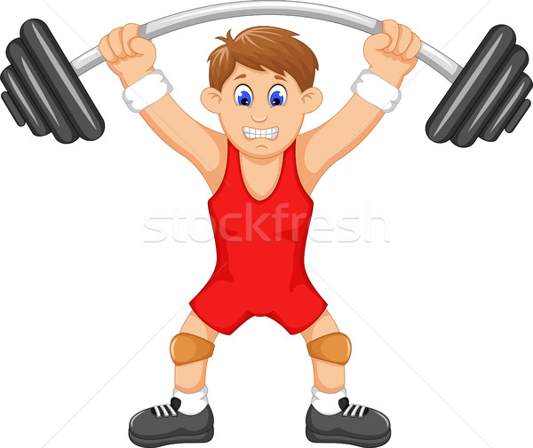 Cute человека спортсмена знак Живопись Сток-фото © jawa123