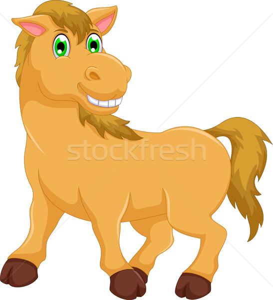 かわいい 馬 漫画 見 カメラ 笑顔 ストックフォト © jawa123