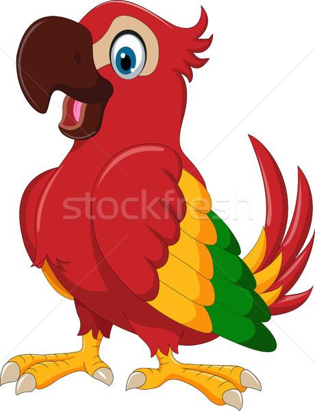 cute parrot cartoon posing Stock photo © jawa123