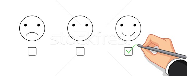 hand choose emotion happy Stock photo © jawa123
