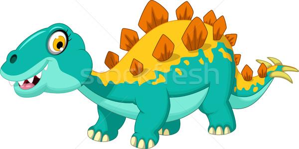 stegosaurus cartoon Stock photo © jawa123