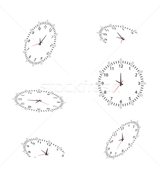 часы дизайна часы свет знак черный Сток-фото © jawa123