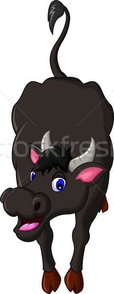 cute buffalo cartoon posing Stock photo © jawa123