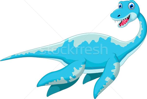 Swimming dinosaur cartoon Stock photo © jawa123